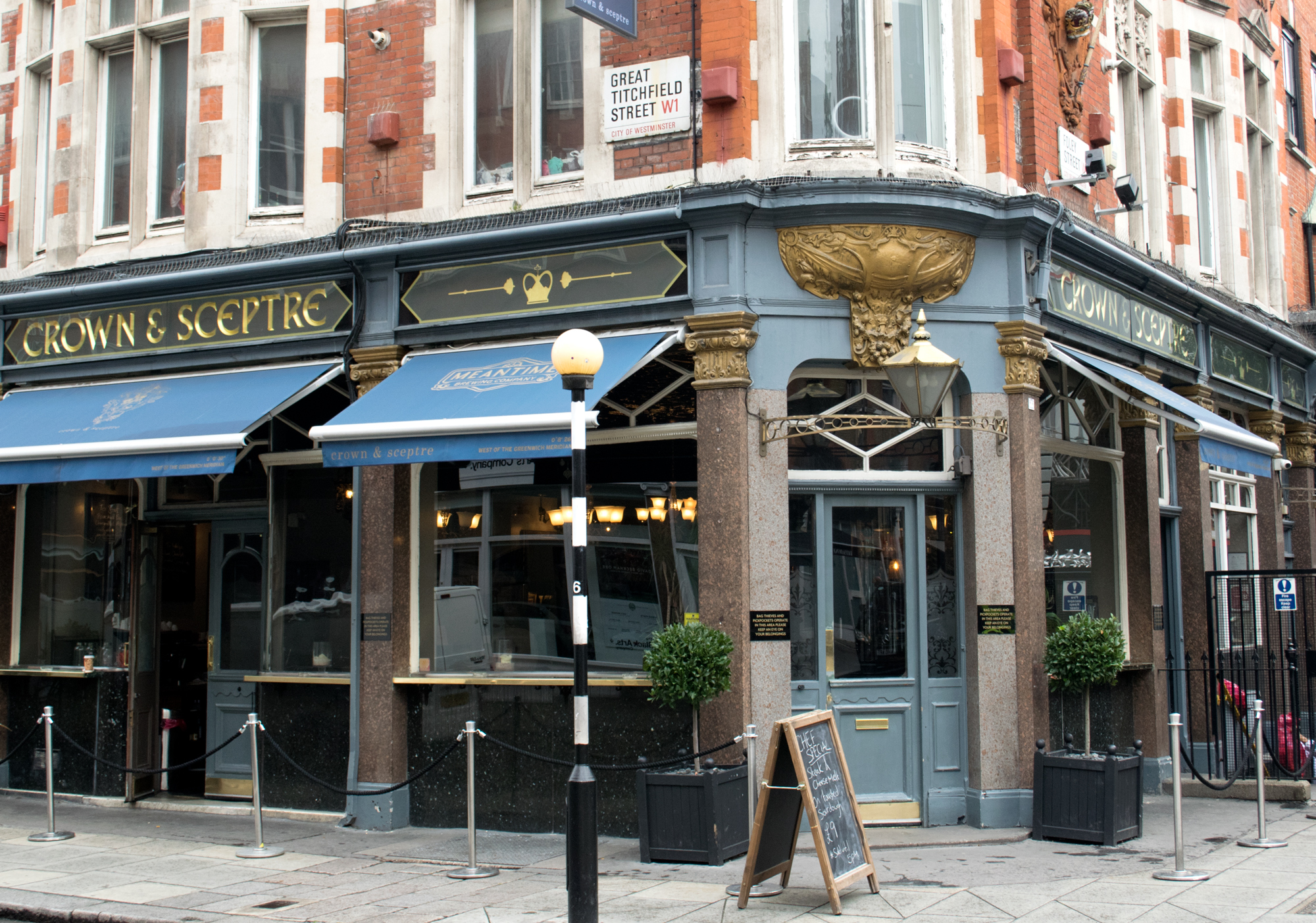 Straight Forward Design - We love Fitzrovia. The Crown and Sceptre