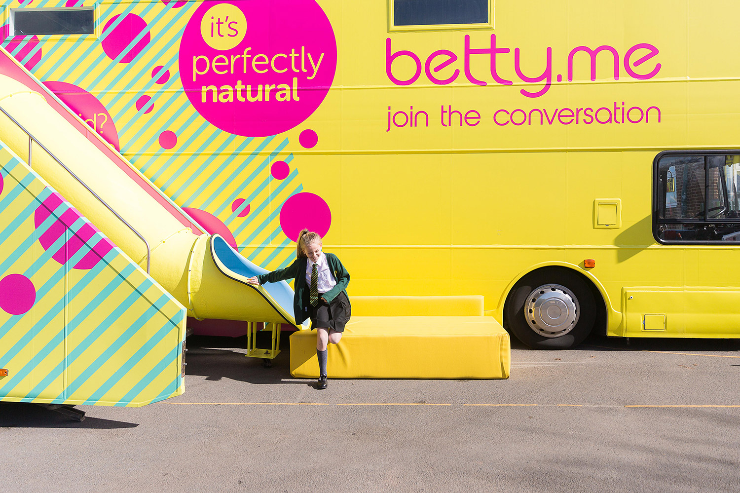 Straightforward. betty brand creation. betty education bus