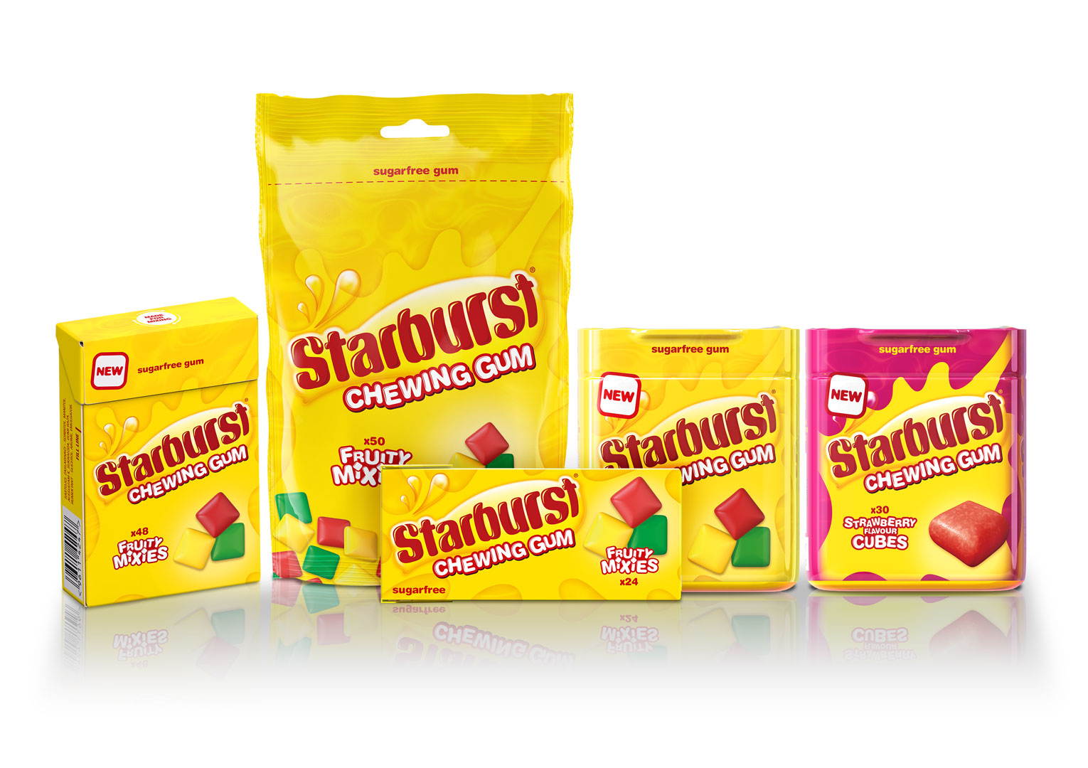 Straight Forward Design Starburst Gum