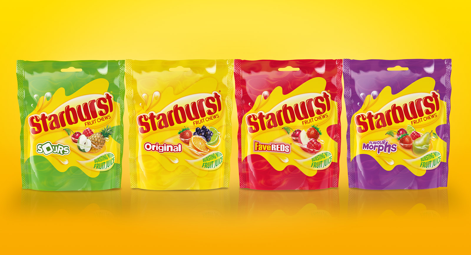 Straight Forward Design Starburst Pouches