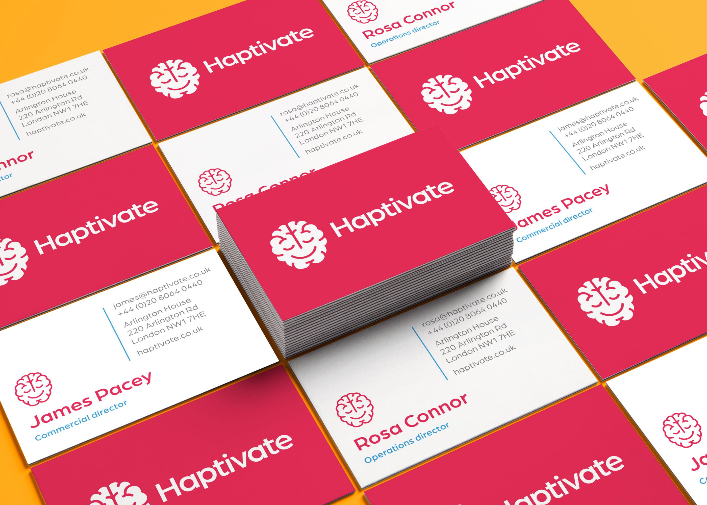 Straight Forward Design Haptivate Brand Creation
