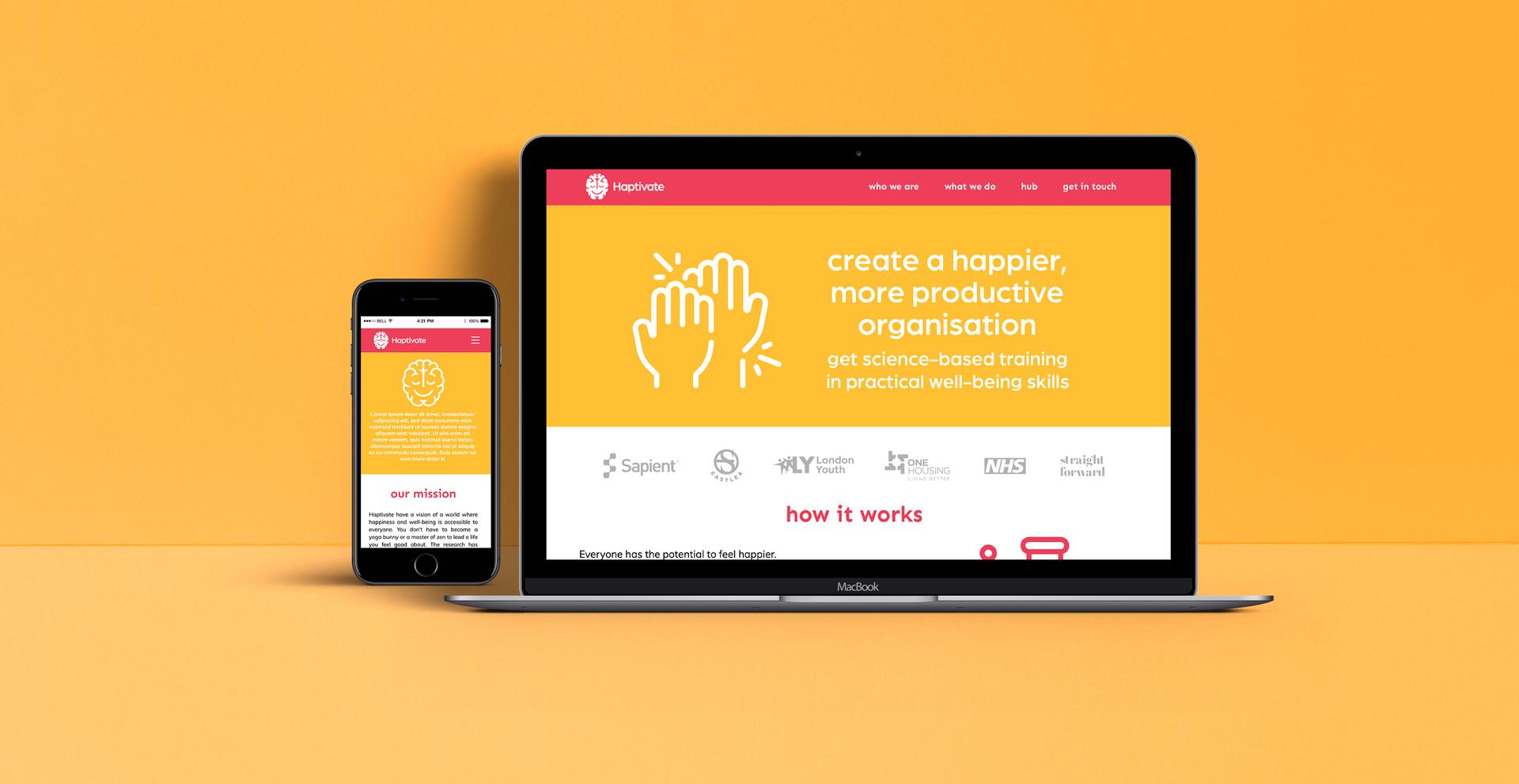 Straight Forward Haptivate Brand Creation: Haptivate Website Design