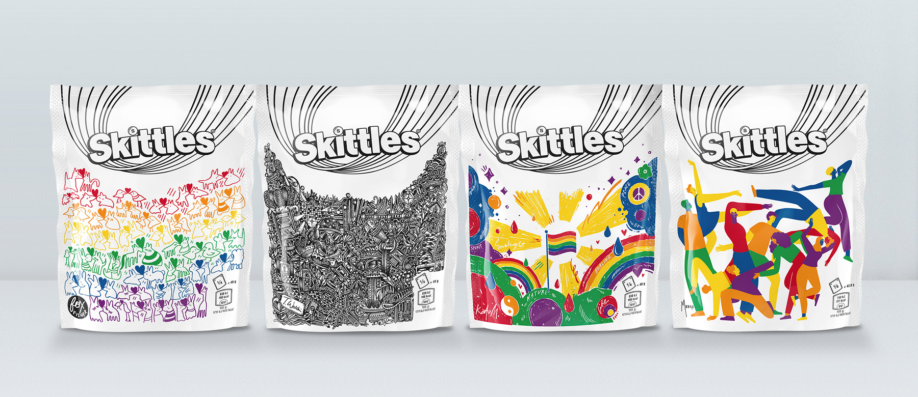 Straight Forward Skittles Pride 2019 Limited edition packaging: Packaging Design Range