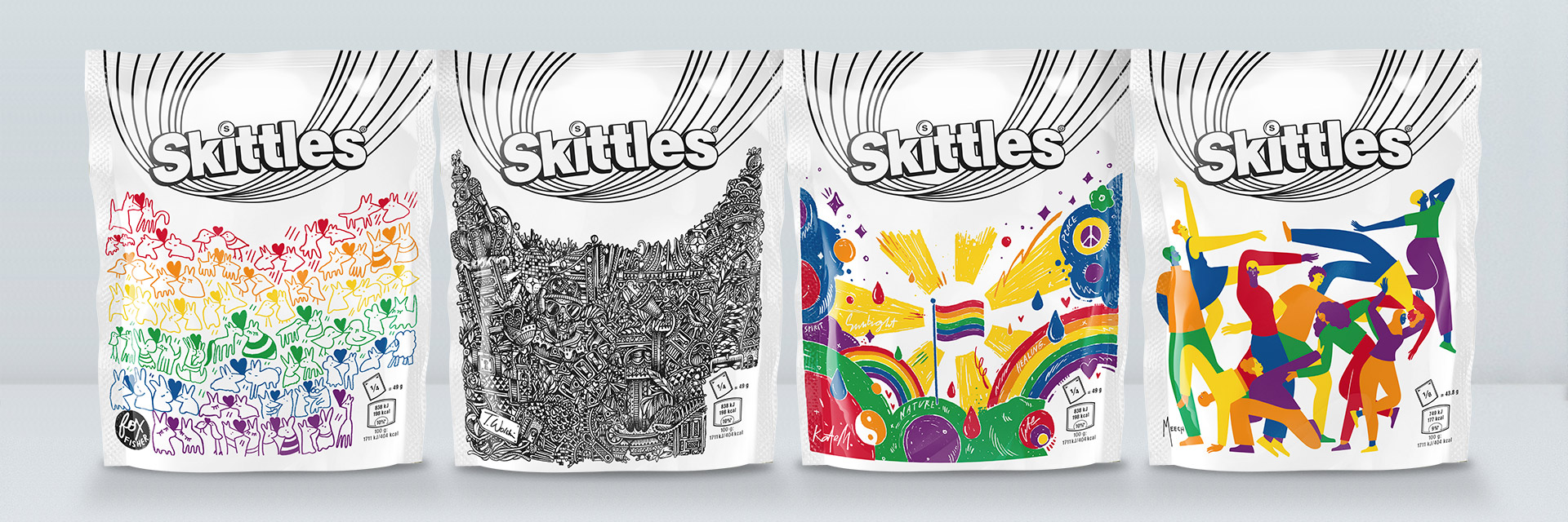 Straight Forward Skittles Pride 2019 Limited edition packaging: Packaging Design Range