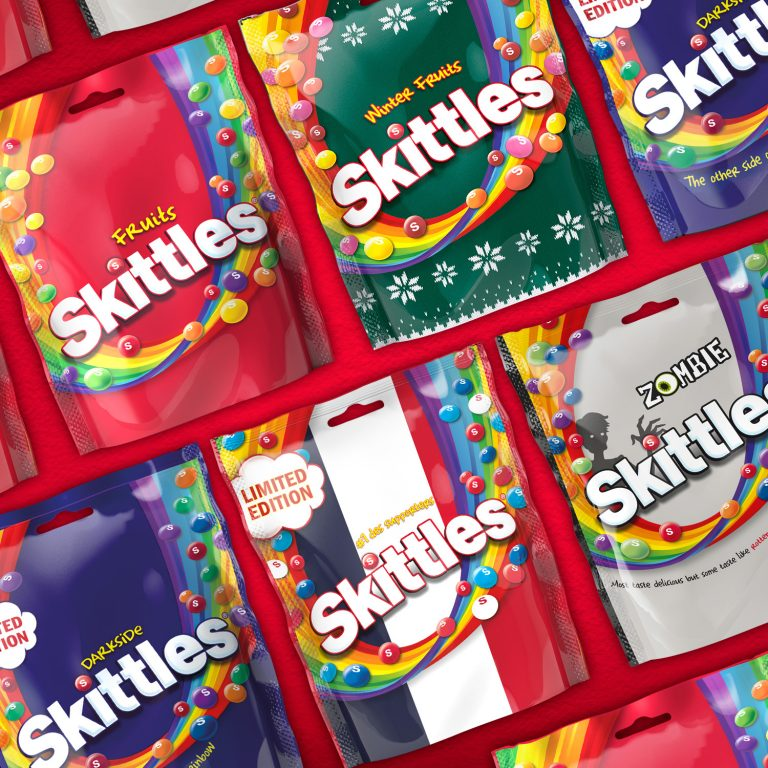 Straight Forward Skittles packaging