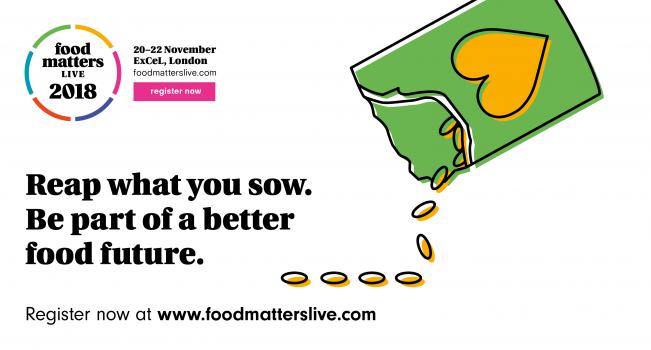 Straightforward. Food matters Live rebrand. 2018 social post design.