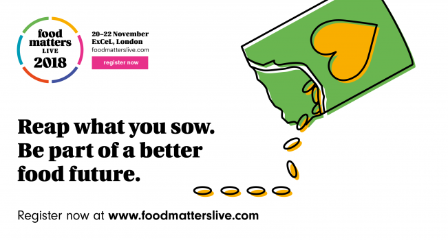 Straightforward. Food matters Live rebrand. 2018 social post design.